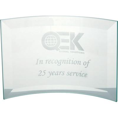 Image of Jade Glass Bevelled Crescent