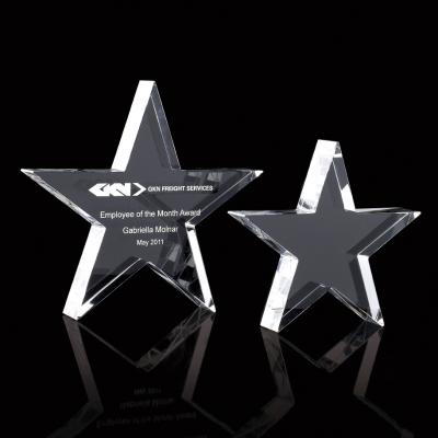 Image of Optical Crystal Star Paperweight
