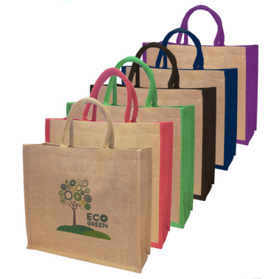 Image of Large Eco Friendly Natural Jute Bag