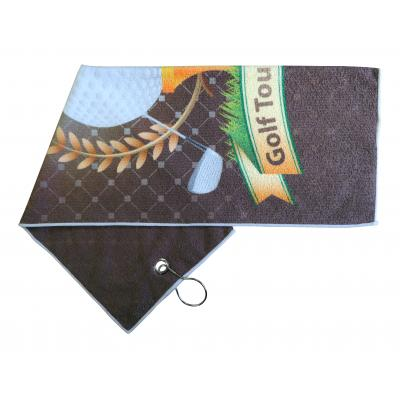 Image of Printed Microfiber Golf Towel