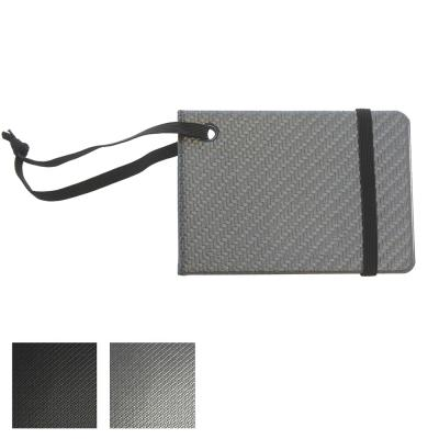 Image of Carbon Fibre Effect Notebook Style Luggage Tag