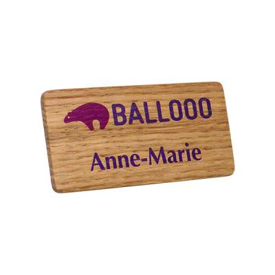 Image of Real Wood Personalised Name Badge